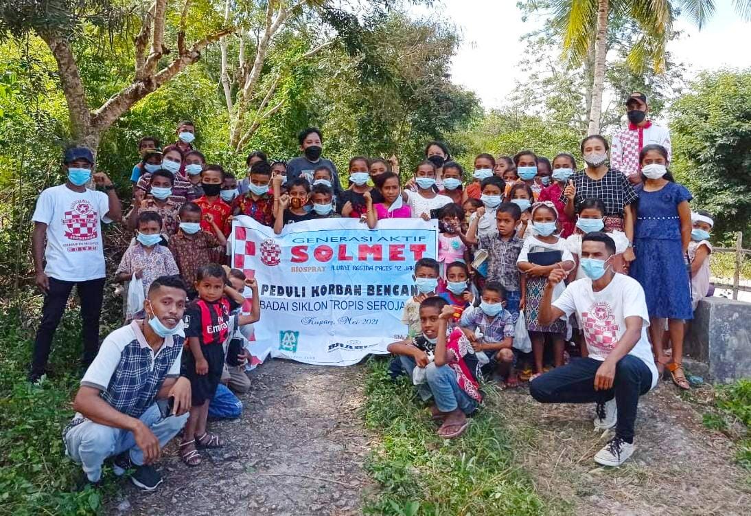 Ribuan Sembako SOLMET Bagikan Korban Banjir
