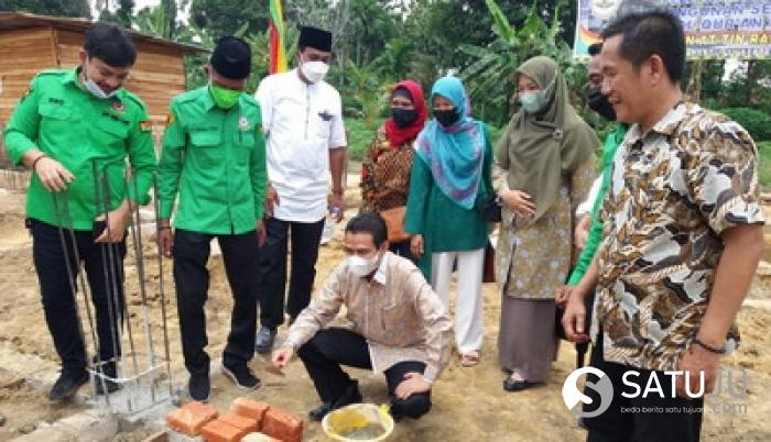 Hendri Munief Hadiri Peletakan Batu Pertama Gedung TahfidzAl Quran AT - TIN Raudatul Jannah