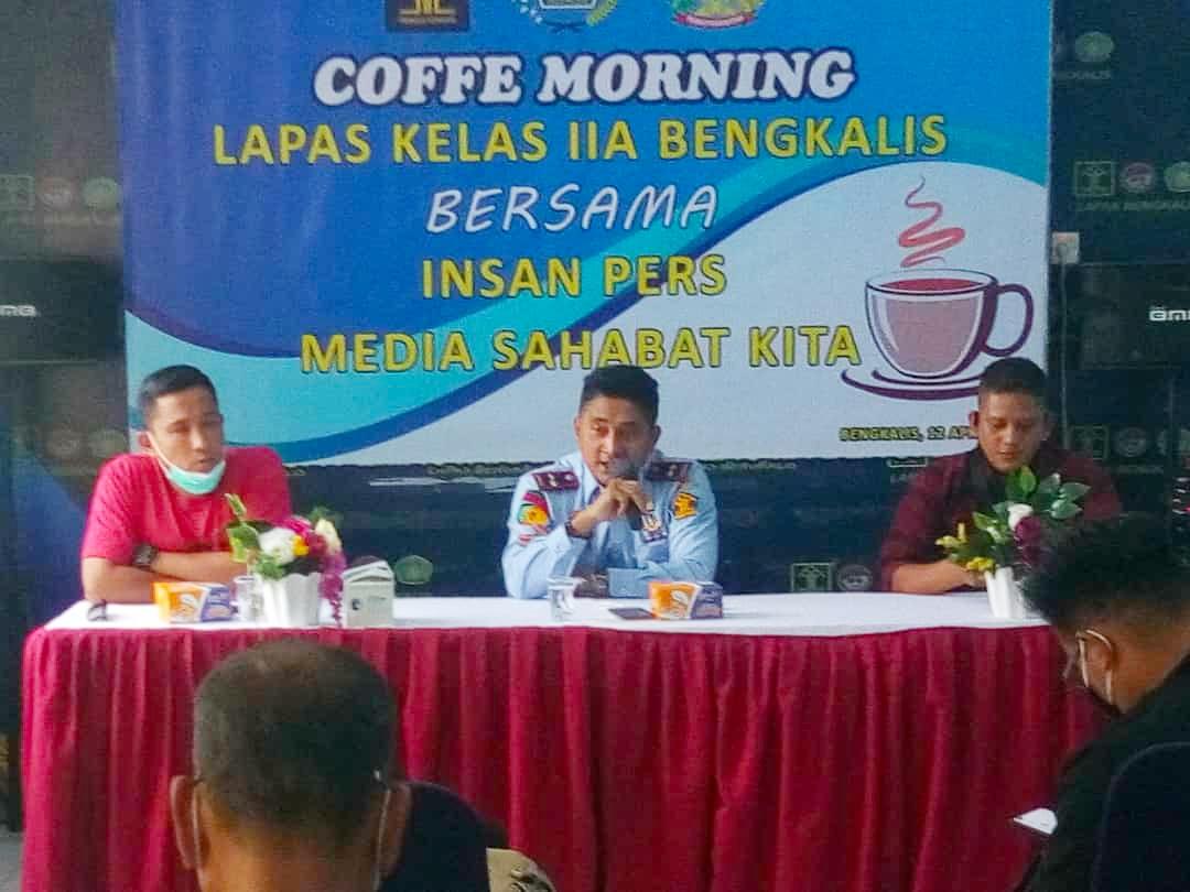 Kalapas Edi Mulyono Gelar Coffe Morning Bersama Insan Pers
