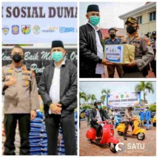 Wako Faisal Pimpin Salurkan Sembako Sebanyak 362 Paket Untuk Masyarakat Dampak Covid-19