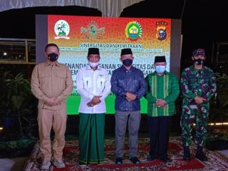 Ukir Sejarah, SANTAN NU bersama Korem 21 Wira Bima dan Polda Riau MoU Ketahanan Pangan