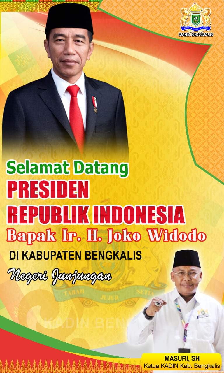 Kadin Bengkalis Ucapkan Selamat Datang Bapak Presiden Jokowidodo